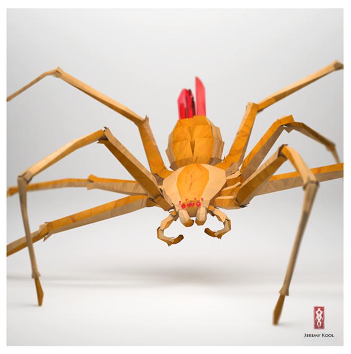 Фото паук из бумаги